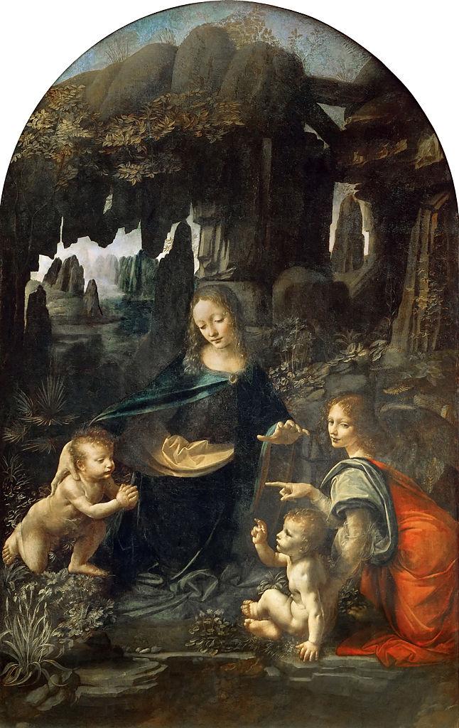 646px-Leonardo_Da_Vinci_-_Vergine_delle_Rocce_(Louvre)