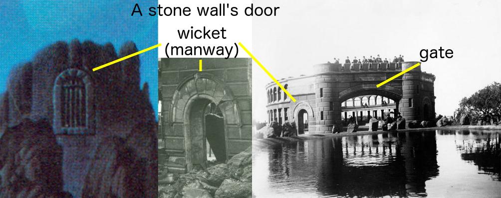 a stone walls door