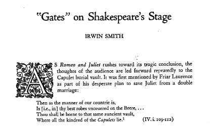 gates on shakespeares stage